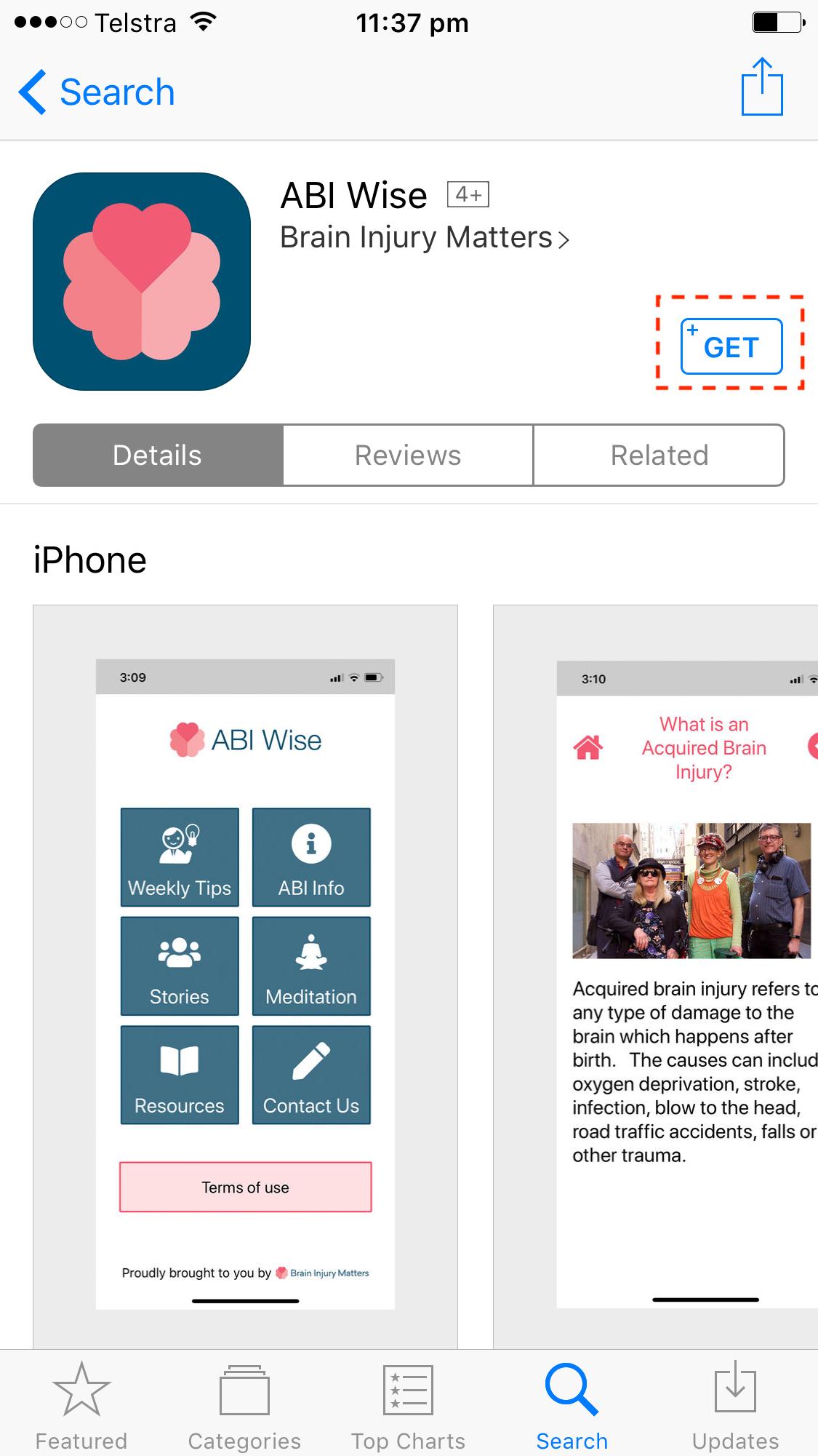 iphone app get